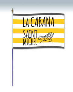 drapeau pavillon avec hampe